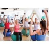 aula de ginástica na academia preço Paulínia